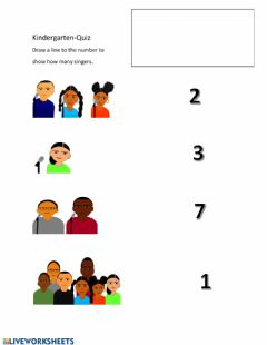 Interactive worksheet Counting Singers Kindergarten