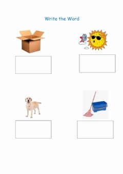 Interactive worksheet Write the Word - middle sound o