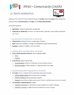 Interactive worksheet La narración