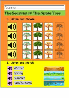 Interactive worksheet The Seasons of the Apple Tree