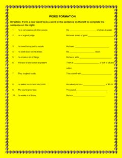 Interactive worksheet Word Formation 2