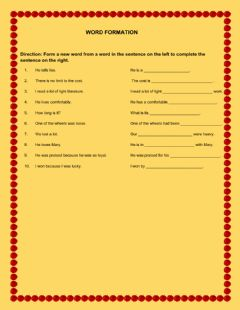 Interactive worksheet Word Formation 3