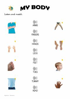 Interactive worksheet My body 2 - P-5