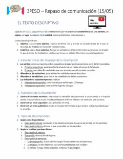 Interactive worksheet La descripción
