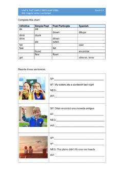 Interactive worksheet 006 irregular verbs II worksheet