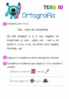 Interactive worksheet Palabras con br o bl
