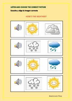Interactive worksheet How's the weather?