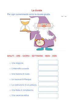 Interactive worksheet La durata