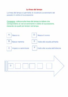 Interactive worksheet La linea del tempo