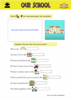 Interactive worksheet OUR SCHOOL Listening