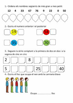Interactive worksheet exercicis 2n