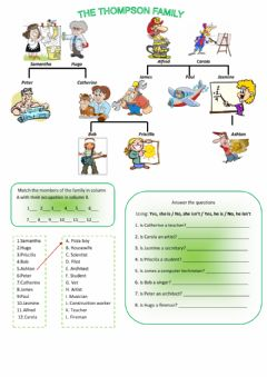 Interactive worksheet The thompson family