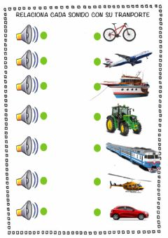 Interactive worksheet Sonidos medios de transporte