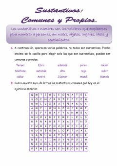 Interactive worksheet Sustantivos