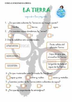 Interactive worksheet La Tierra
