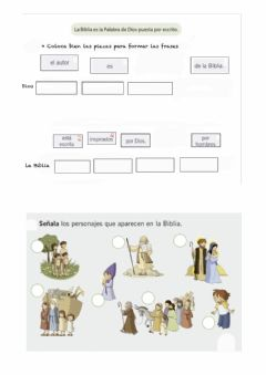 Interactive worksheet La Biblia