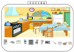 Interactive worksheet Partes y objetos de la casa