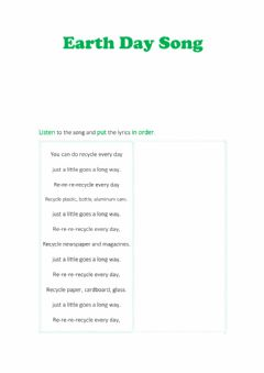 Interactive worksheet Earth Day Song