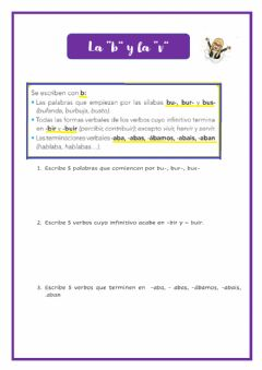 Interactive worksheet La b y la v
