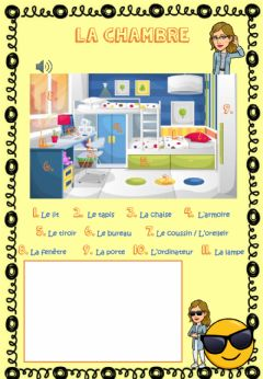 Interactive worksheet La chambre