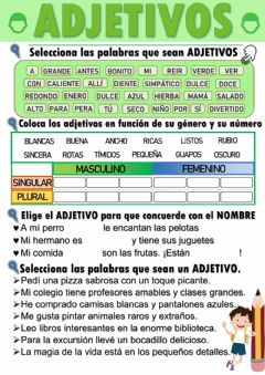 Interactive worksheet Los adjetivos.