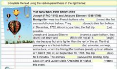 Ficha interactiva The Montgolfier brothers