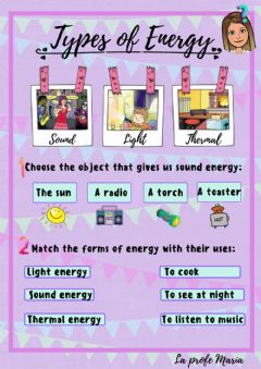 Interactive worksheet Types of Energy