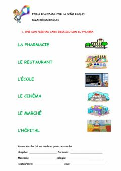 Interactive worksheet La ville facile