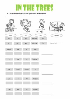Interactive worksheet In the trees 03
