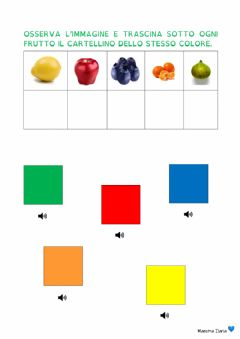 Interactive worksheet Associa il colore