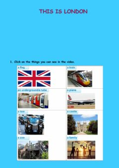 Interactive worksheet This is London