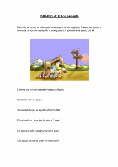 Interactive worksheet El bon samarità
