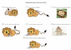 Interactive worksheet The Lion and the mouse
