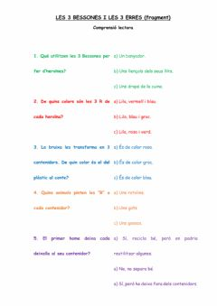 Interactive worksheet Les3Bessonesiles3R