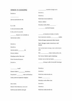 Interactive worksheet Denok zu