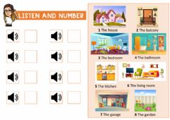 Interactive worksheet The house 1