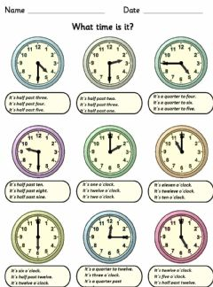 Interactive worksheet What time is it?