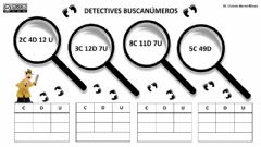 Interactive worksheet Detective busca números
