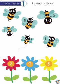 Interactive worksheet Bees 1x tables