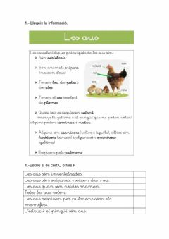 Interactive worksheet Les aus