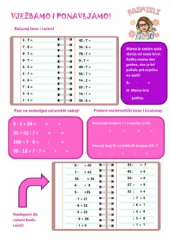Interactive worksheet Vježbanje