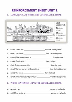 Interactive worksheet Comparative