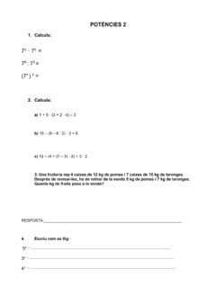 Interactive worksheet Potències 2