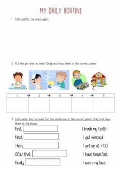 Interactive worksheet My daily routine