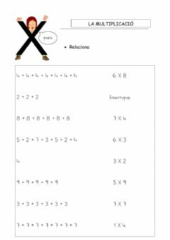 Interactive worksheet La multiplicació 2