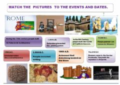 Ficha interactiva Events,dates and pictures