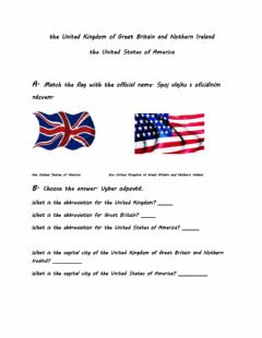 Interactive worksheet The United Kingdom of Great Britain and Nothern Ireland, the United States of America