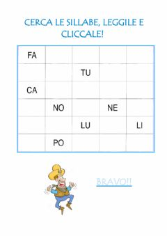 Interactive worksheet Trova le sillabe-2