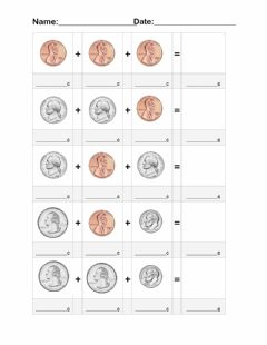 Interactive worksheet Money Math Coins 3