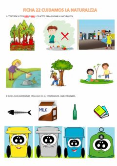 Interactive worksheet Cuidamows la naturaleza